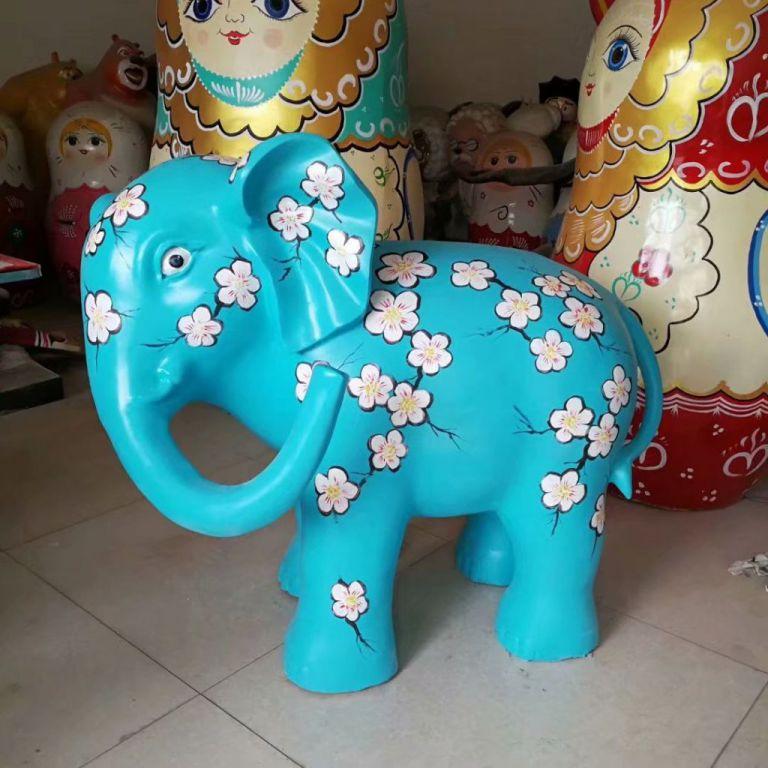 玻璃钢大象彩绘2