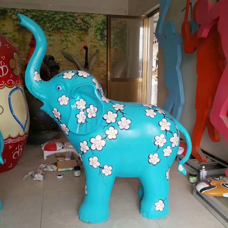 玻璃钢大象彩绘4