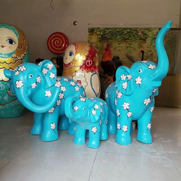 玻璃钢大象彩绘7